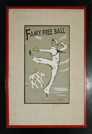 Fancy Free Ball, framed