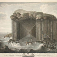 View of Fingal's Cave at the Isle of Staffa