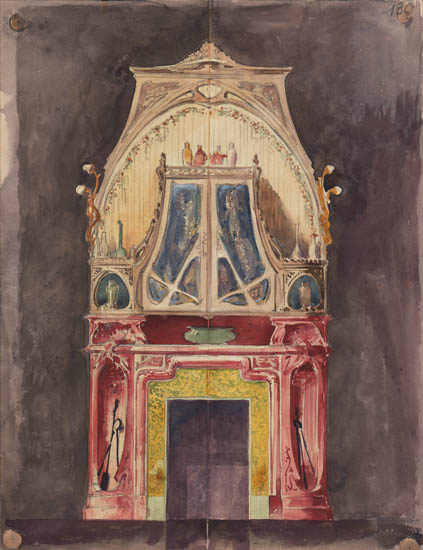 Art Nouveau Fireplace Design