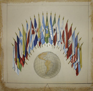 Flags of the Nations of the OAS