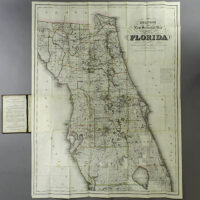 Colton New Sectional Map of the State of Florida, pocket map