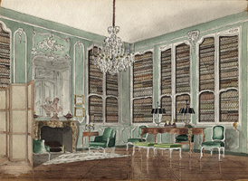 Louis XV Style Library Design