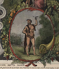 Planisphere [World Map], detail of allegory of Summer