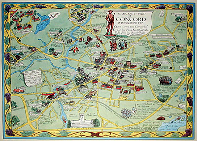 Map, Concord, Massachusetts