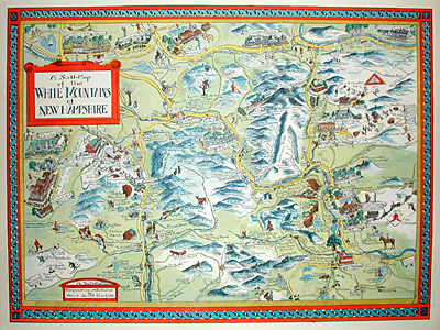 A Scott Map Of The White Mountains New Hampshire