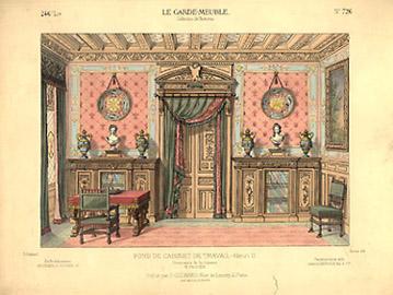 Cabinet de Travail Genre Louis XVI [Study in the Style of Louis XVI]
