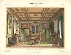 Interieur de Salle à Manger Genre Moderne [Dining Room Interior in the Modern Style]