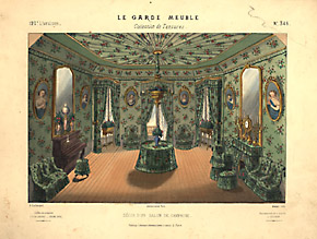 design art decorative arts furniture interiors le garde meuble french antique prints 19th. Black Bedroom Furniture Sets. Home Design Ideas
