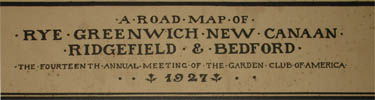 Pictorial Map, Rye, Greenwich, New Canaan, Ridgefield &amp