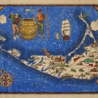 Pictorial Map, Nantucket Island, Decorative