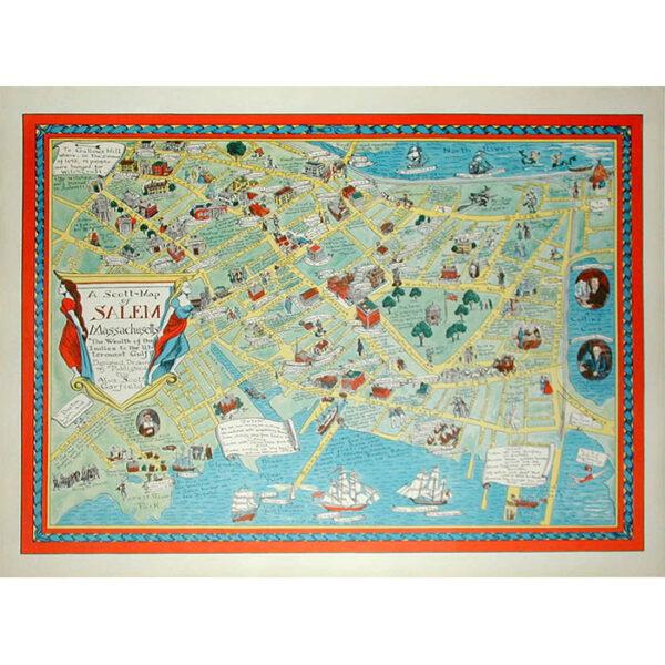 A Scott-Map of Salem Massachusetts