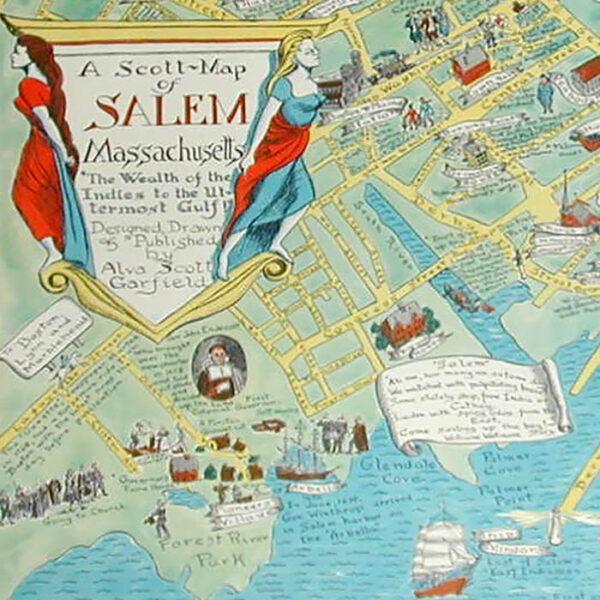 A Scott-Map of Salem Massachusetts, detail