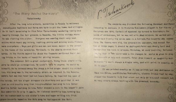 Tchaikovsky (detail of story)