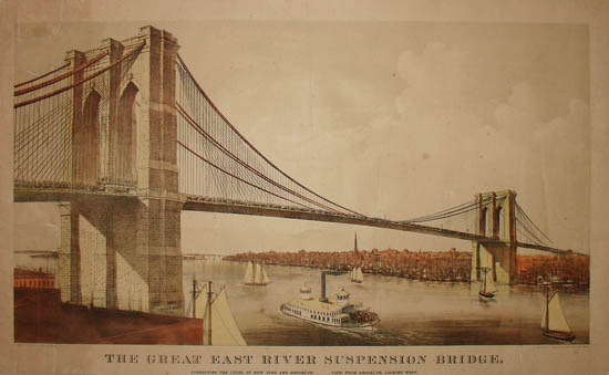 View, Great East River Suspension Bridge