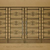 Design for Art Deco Grille Doors