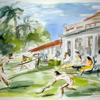 Tennis Players, Kingston Country Club, Jamaica