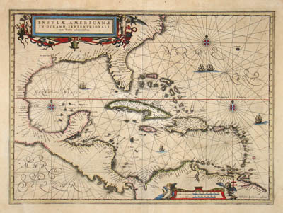 Map, West Indies