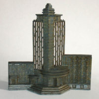 Architectural Model and Lamp, Art Deco