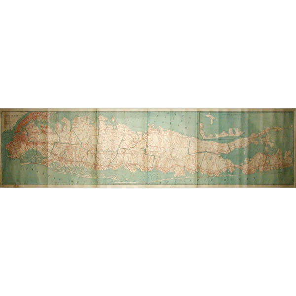 Map of Long Island, C. S. Hammond & Co., 1906