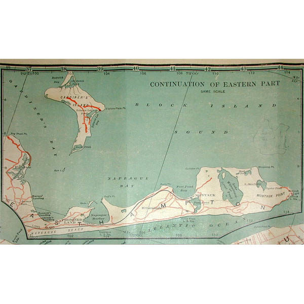 Map of Long Island, C. S. Hammond & Co., inset of eastern end
