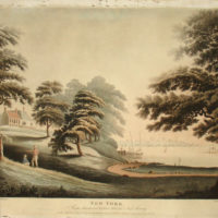 New York From Hobuck Ferry House, New Jersey