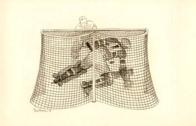 Drawing of a Hockey Goalkeeper