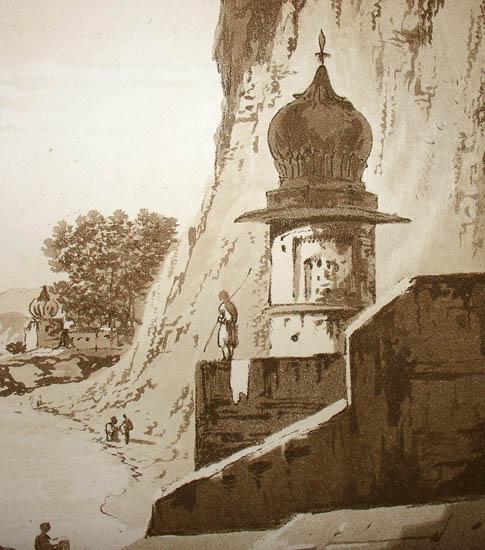 Detail of A View of the Gaut at Etawa