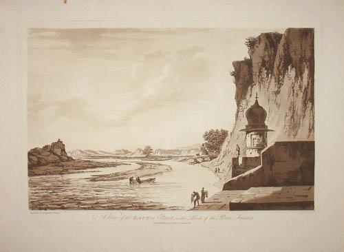 A View of the Gaut at Etawa, on the Banks of the River Jumna
