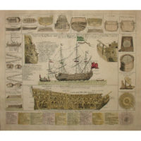 Study of an Early 18th C. Warship