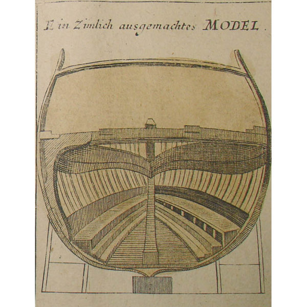 Detail of Homann, Study of an Early 18th C. Warship