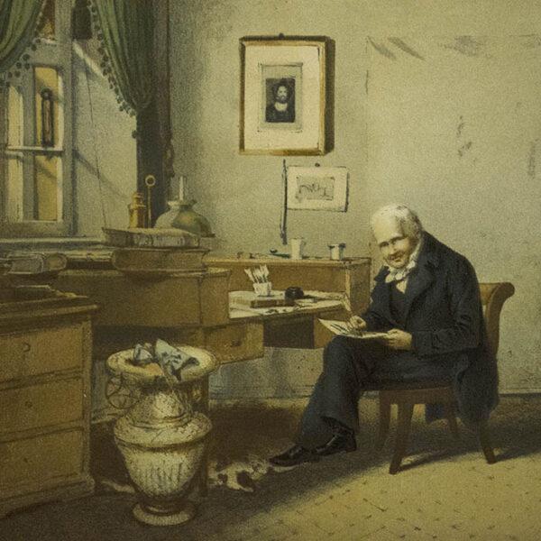 Alexander von Humboldt in His Study, detail