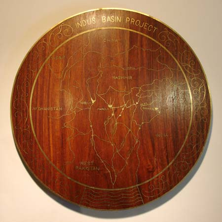Plaque, Map of Indus Basin Project