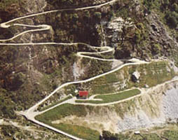 Mountain Roads in Italy, detail