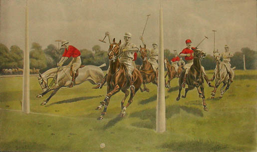 Set of Three Edwardian Polo Prints