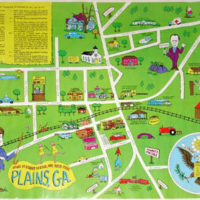 Plains, Georgia, Jimmy Carter Presidential Map