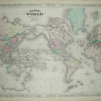World Map, World on Mercator's Projection