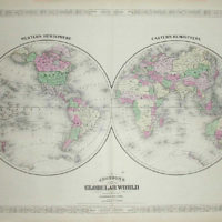 World Map, Johnson's Globular World