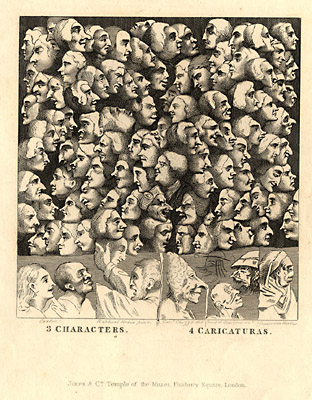 Caricatures by Charruci, Engraving
