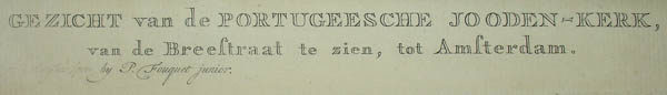 German title for the Portuguese synagogue view