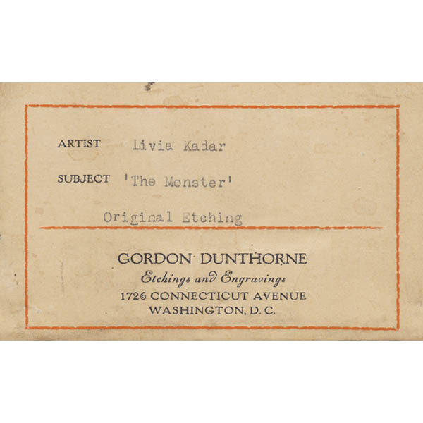 Label from Gordon Dunthorne