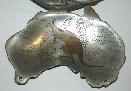 Tray, Australia Map and Kangaroo
