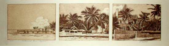 Triptych of Key West Views