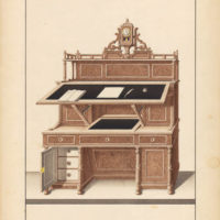 Pair of Biedermeier Writing Desk Designs