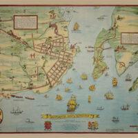 Pictorial Map, Kingston, Ontario, Historical M