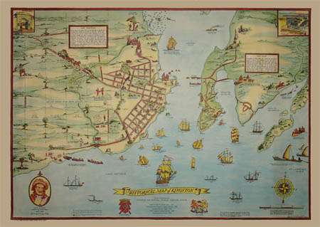 Pictorial Map, Kingston, Ontario, Historical M