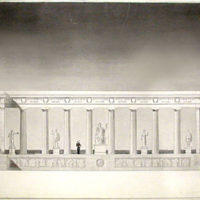 Design for Neoclassical Portico Battle Monument