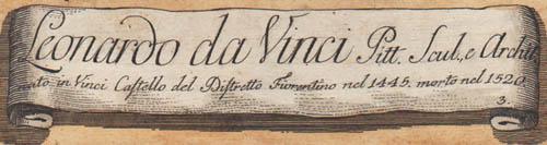 Leonardo da Vinci, Number 3 detail