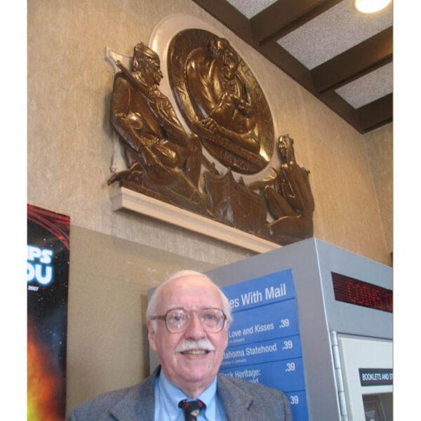 Janowsky's James Fenimore Cooper bronze plaque installed in Cooperstown in 2007.