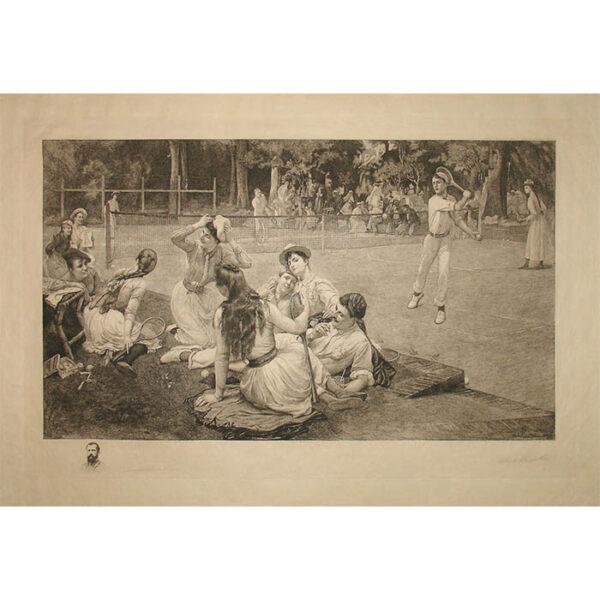 Lawn Tennis Club by F.A. Bridgman