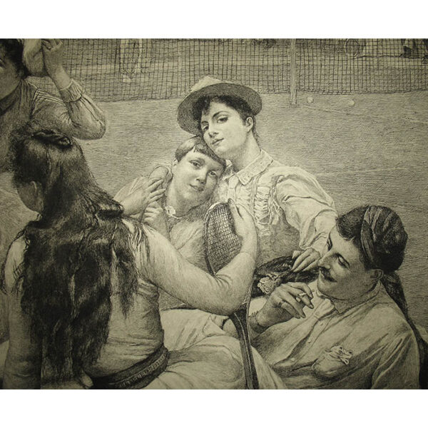 Lawn Tennis Club by F.A. Bridgman, detail
